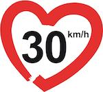 Motiv der Kampagne 30kmh.eu