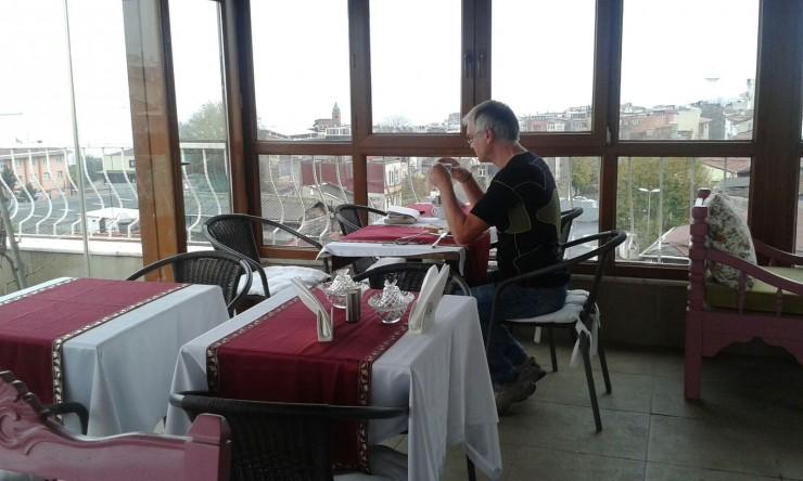 ... Paul bei seinem, letzten Frühstück in Istanbul 2015 ...