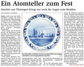 Quelle: Stadtanzeiger Hamm, 05.12.2015