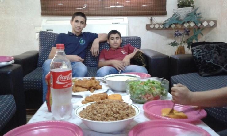... Waheeb & Karram, die Söhne meines Freundes Rafat ...