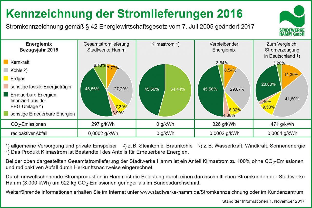 Stromkennzeichnung 2016. Quelle: stadtwerke-hamm.de