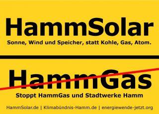 Fahne HammSolar/HammGas (gelb)
