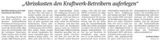 Leserbrief von Karlheinz Röcher, WA 08.12.2021