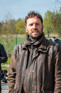 Martin Kesztyüs während der Mahnwache Tschernobyl & THTR-300