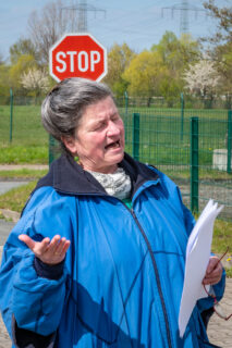 Benigna Grüneberg während der Mahnwache Tschernobyl & THTR-300