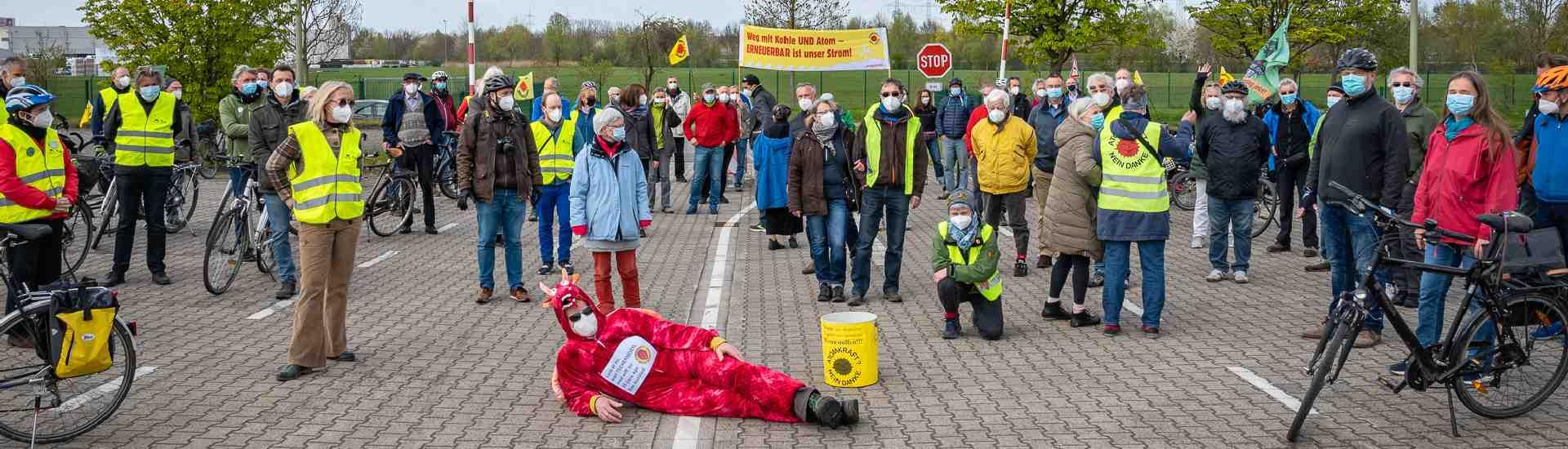 Mahnwache Tschernobyl & THTR-300 in Hamm-Uentrop, 25.04.2021