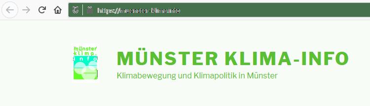 Münster: Klimaportal für die Domstadt ist Online