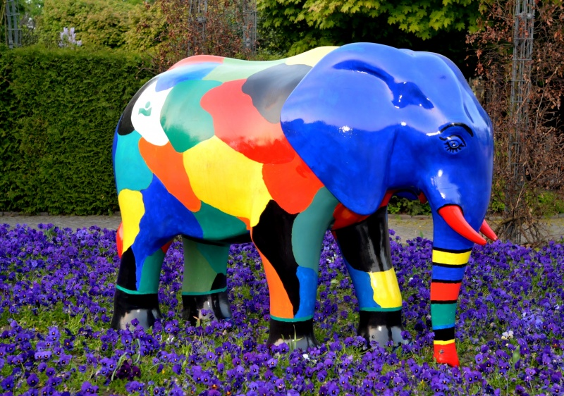 Skulptur aus der 'Elefantenparade' von Hamm