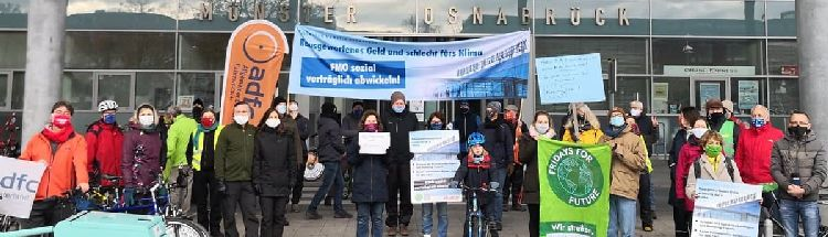 Demonstration vor dem FMO am 05.12.2020