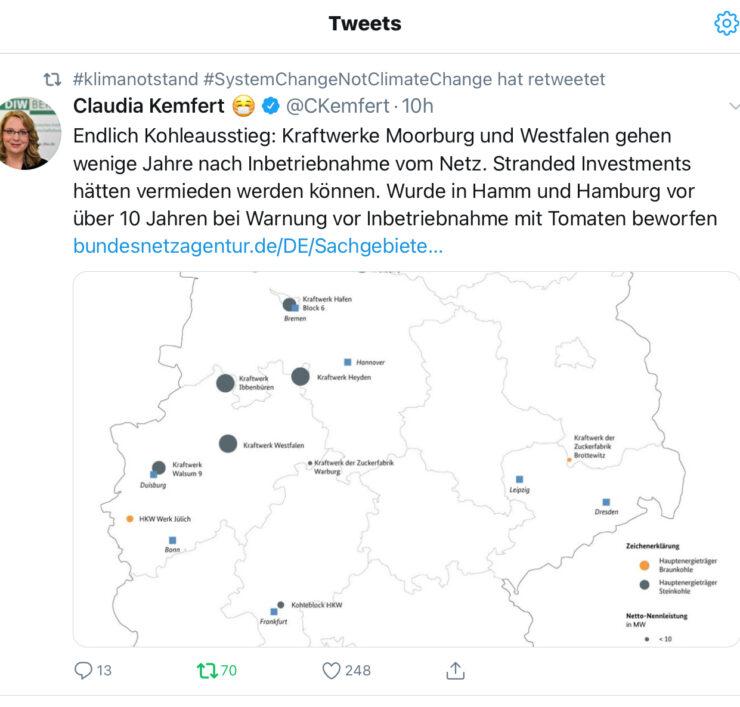 Tweet von Claudia Kemfert, 01.12.2020 - 1 von 3