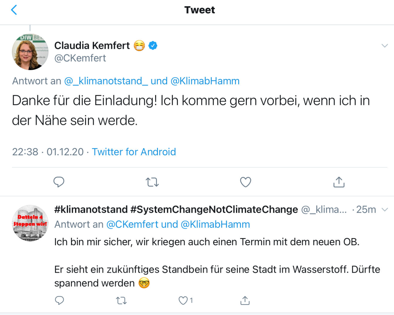 Tweet von Claudia Kemfert, 01.12.2020 - 3 von 3