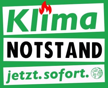 Logo der Kampagne #Klimanotstand