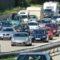 PKW Stau auf der Autobahn