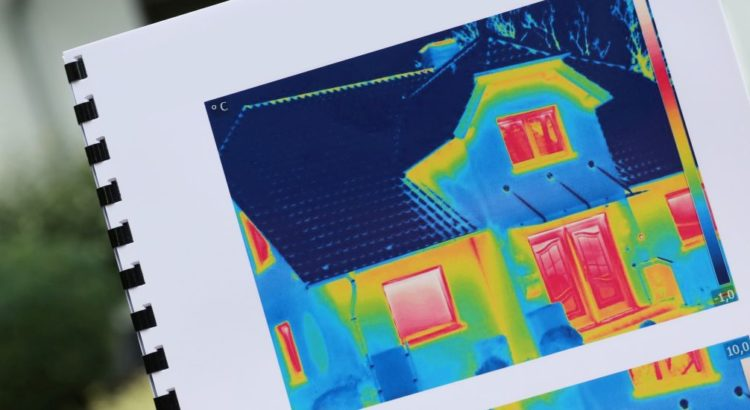Wärmebild eines Hauses