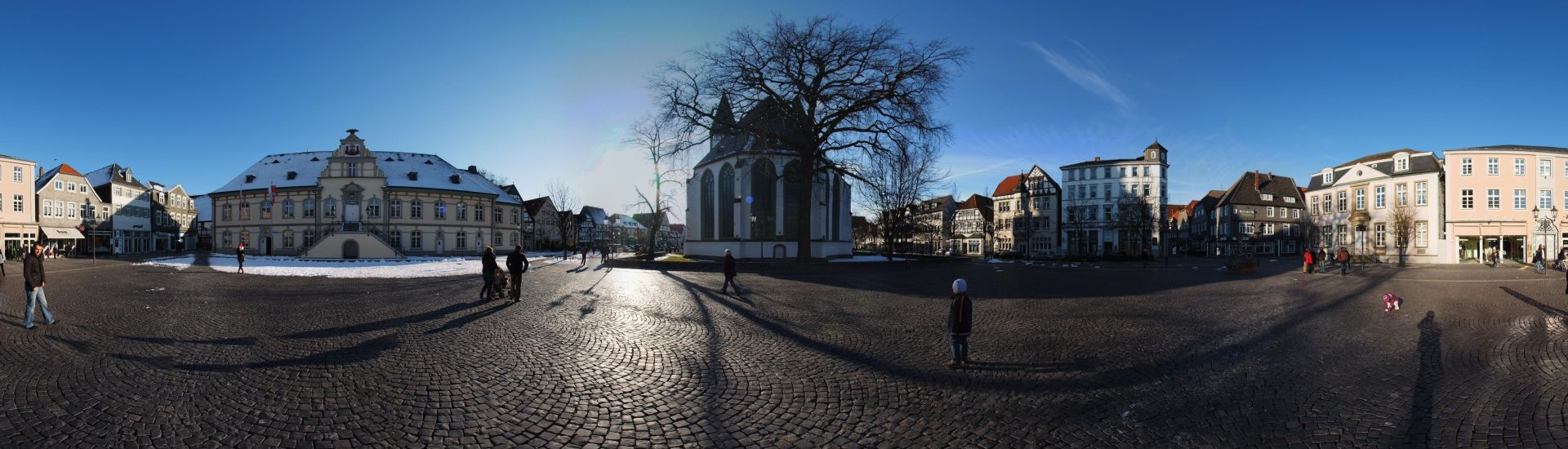 Panorama Rathausplatz in Lippstadt
