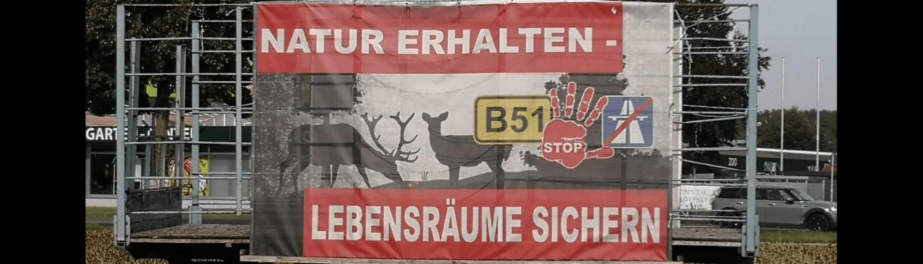 Münster: Widerstand an der B51