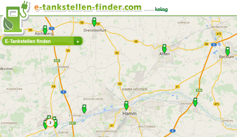 Quelle: e-tankstellen-finder.com & google-maps