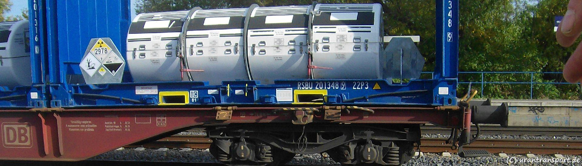 18.11.2019: Protest gegen Uranmülltransport